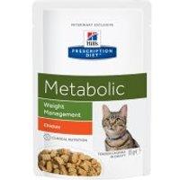 Hill's Metabolic Prescription Diet sobres para gatos - 12 x 85 g