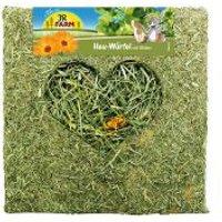 JR Farm Cubo de heno con flores - 2 x 450 g (grande) - Pack Ahorro