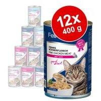 Porta 21 Feline 12 x 400 g en latas para gatos - Pack Ahorro - Pollo con aloe (sin cereales)