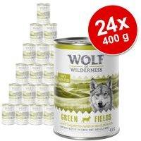 Pack Ahorro: Wolf of Wilderness 24 x 400 g - Wild Hills, con pato