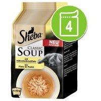 Sheba Classic Soup 4 x 40 g - Filetes de pescado de mar y verduras