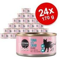 Cosma Thai/Asia en gelatina 24 x 170 g - Pack Ahorro - Pollo con atún