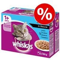 Whiskas en bolsitas 96 x 85/100 g - Megapack Ahorro - Selección de pescados en gelatina Senior 7+ (96 x 100 g)