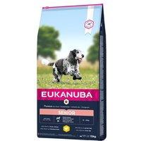 Eukanuba Caring Senior Medium Breed Huhn - 15 kg