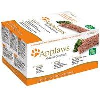 Applaws Cat Paté Mix 7 x 100 g - Hühnchen, Lamm, Lachs