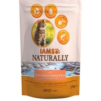 IAMS Naturally Cat Adult Salmon - Sparpaket: 2 x 2,7 kg