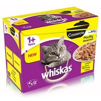 Whiskas 1+ Casserole Poultry Selection in Jelly - 12 x 85g