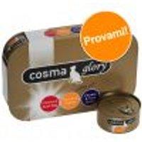 Set prova Cosma Glory in gelatina 6 x 170 g Mix Pollo: con Uova quaglia + con Uova tonno + con Gamberetti