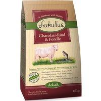 Lukullus Dog Food Charolais Beef & Trout - Economy Pack: 2 x 15kg