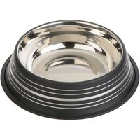 Silver Line Stainless Steel Dog Bowl Black - 0.90 litre