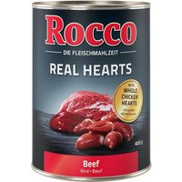 Rocco Real Hearts Saver Pack 24 x 400g - Beef with whole Chicken Hearts