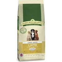 James Wellbeloved Junior Large Breed - Lamb & Rice - Economy Pack: 2 x 15kg