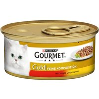 Gourmet Gold Delicacies Saver Pack 24 x 85g - Beef & Chicken