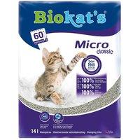 Biokats Micro Classic Cat Litter - Economy Pack: 2 x 14l