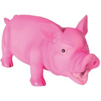 Grunting Latex Squeaker Pig Toy - Pink: approx. 15cm