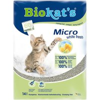Biokats Micro White Fresh Cat Litter - Economy Pack: 2 x 14l