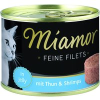 Miamor Fine Fillets 6 x 185g - Tuna & Vegetables in Jelly