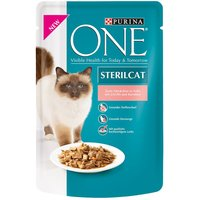 Purina ONE Sterilised - 8 x 85g Salmon