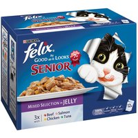 Felix Senior As Good As It Looks - Saver Pack: Mixed Selection (24 x 100g)
