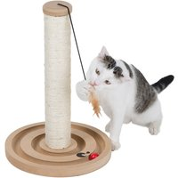 zoolove Play n Scratch Post - Natural