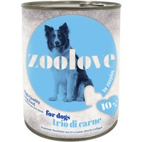 zoolove Trio di Carne Wet Dog Food - 6 x 800g
