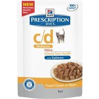 Hills Prescription Diet Feline - c/d Multicare Salmon - Saver Pack: 24 x 85g