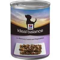 Hills Ideal Balance Canine Adult - Lamb - Saver Pack: 12 x 363g