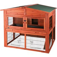 Trixie Natura Small Animal Hutch XL with Run - 135 x 115 x 112 cm (L x W x H) (2 parcels*)