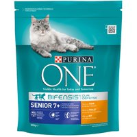 Purina ONE Senior 7+ Chicken & Whole Grains Dry Cat Food - Economy Pack: 4 x 800g
