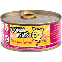 Meowing Heads Wet Cat Food Saver Packs 24 x 100g - Gone Fishin Adult White Fish & Chicken