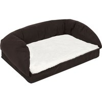 Orthopaedic Dog Bed - Brown / Beige - 75 x 50 x 25 cm (L x W x H)