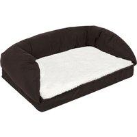 Orthopaedic Dog Bed - Brown / Beige - 90 x 60 x 30 cm (L x W x H)