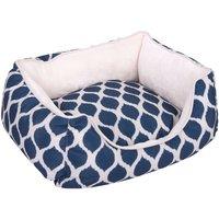 Blue Print Snuggle Bed - 64 x 53 x 20 cm (L x W x H)