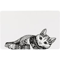 Set de table Trixie Zentangle pour chat - L 44 × l 28 cm