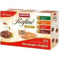 Animonda Rafin Mixed Pack 12 x 100g - 4 Varieties with Veal & Poultry