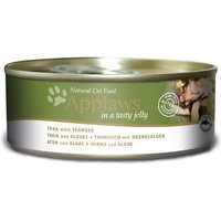 Applaws Cat Food in Jelly Grain-Free 156g - Tuna with Seaweed (6 x 156g)