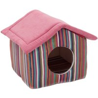Niche Funny Stripes pour chat et petit chien - L 50 x l 50 x H 42 cm