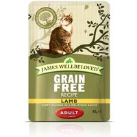 James Wellbeloved Cat Pouches Saver Pack 48 x 85g - Kitten Lamb (48 x 85g)