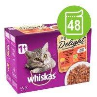 Whiskas 1+ Adult Pure Delight en bolsitas 48 x 85 g - Pure Delight selección de aves en gelatina