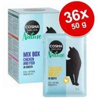Cosma Nature 36 x 50 g en bolsitas - Megapack Ahorro - Pechuga de pollo y atún