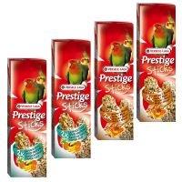 3 + 1 gratis! 4x Versele-Laga Prestige Sticks - Großsittiche 4 x 2 Sticks (560g)