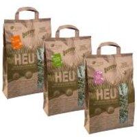Bunny Set de heno de praderas conservadas de forma natural - 6 x 250 g - Pack Ahorro
