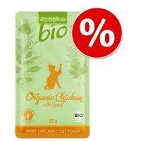 zooplus Bio 85 g ¡a precio especial! - Pollo ecológico con zanahorias