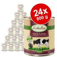 Lukullus 24 x 800 g - Pack Ahorro - Salmón y pollo