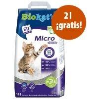 Biokat's Micro arena aglomerante 14 l en oferta: 12 + 2 l ¡gratis! - Micro Fresh arena aglomeratne