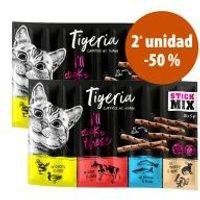 Tigeria Sticks 2 paquetes en oferta: 2ª ud. al -50% - Vacuno e hígado (2 x 50 g)
