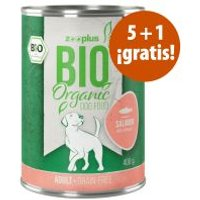 zooplus Bio 6 x 400 g comida ecológica en oferta: 5 + 1 ¡gratis! - Junior pollo ecológico con calabaza ecológica