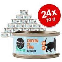 Cosma Nature 24 x 70 g - Pack Ahorro - Pechuga de pollo y atún