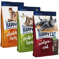 Happy Cat Adult Mix - 2 x 10 kg (Lachs, Rind)