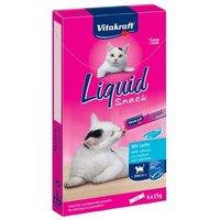 Vitakraft Cat Liquid-Snack mit Lachs + Omega 3 - 6 x 15 g